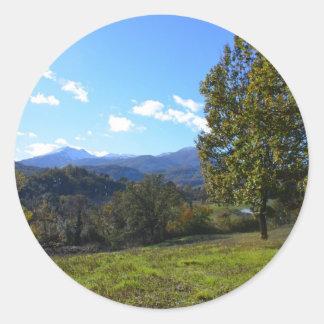 Pollino National Park Classic Round Sticker