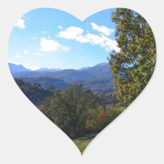 Pollino National Park Heart Sticker