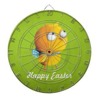 Pollo amarillo de Pascua con la cinta Tablero Dardos