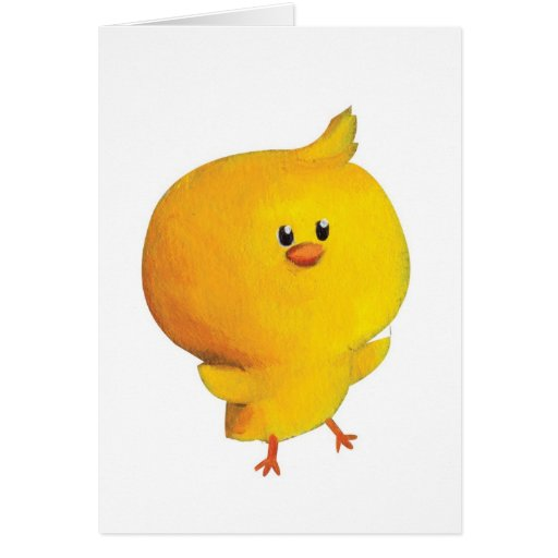 Pollo amarillo lindo felicitacion