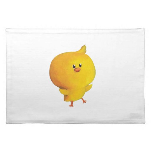 Pollo amarillo lindo mantel individual