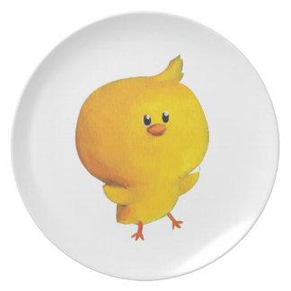 Pollo amarillo lindo plato de cena
