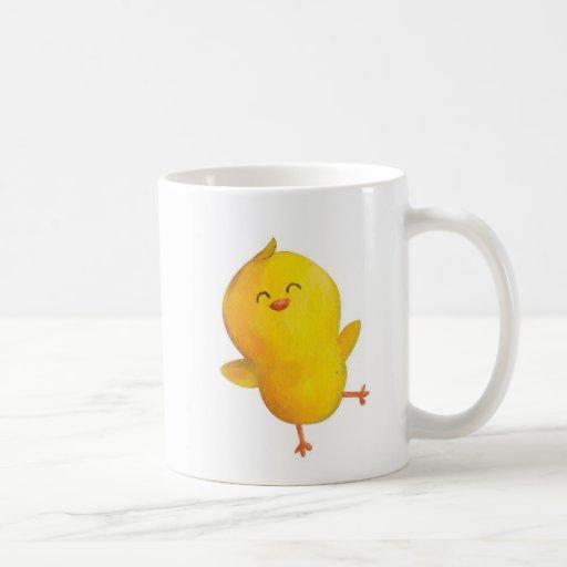 Pollo amarillo lindo taza