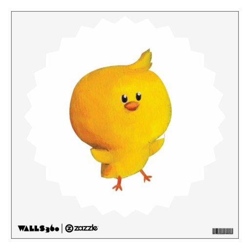 Pollo amarillo lindo vinilo decorativo