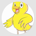 Pollo amistoso del bebé etiquetas redondas