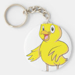 Pollo amistoso del bebé llaveros personalizados