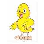 Pollo amistoso del bebé postal