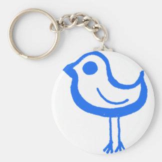 Pollo azul llaveros personalizados