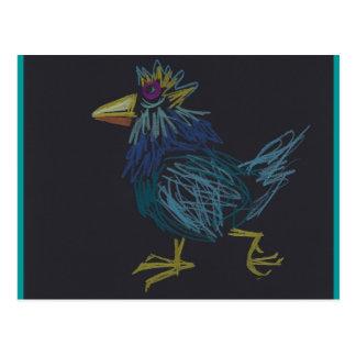 Pollo azul postal feliz del año de Pascua o del