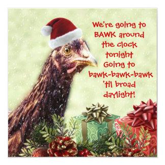 ¡Pollo Bawk de Santa las veinticuatro horas del Invitacion Personal