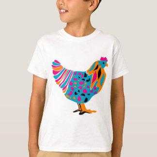 Pollo brillante enrrollado camisas