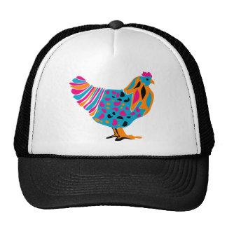 Pollo brillante enrrollado gorros