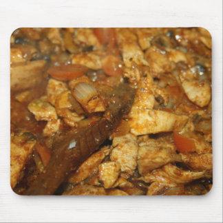 Pollo cebollas y cojín de ratón del tomate tapetes de raton