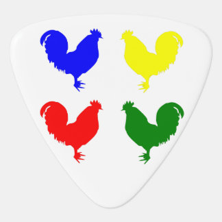Pollo colorido plumilla de guitarra