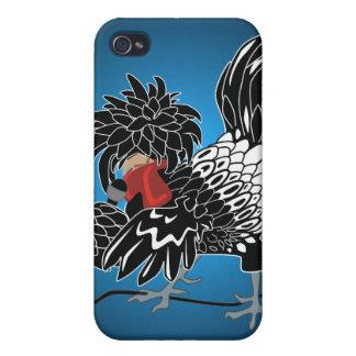 Pollo con cresta polaco oscilante iPhone 4 cobertura