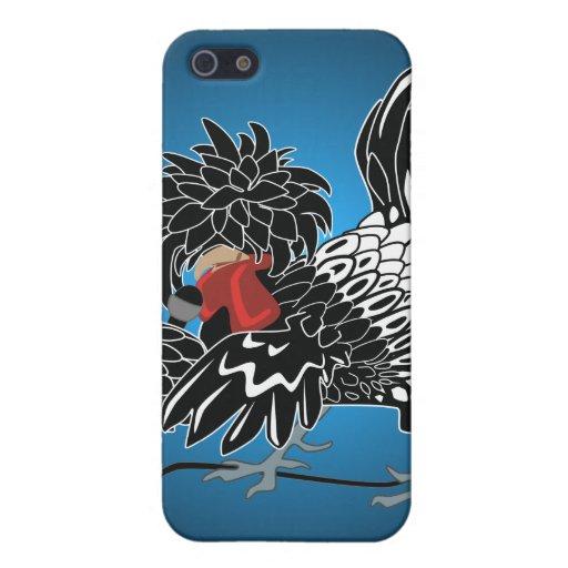 Pollo con cresta polaco oscilante iPhone 5 carcasas