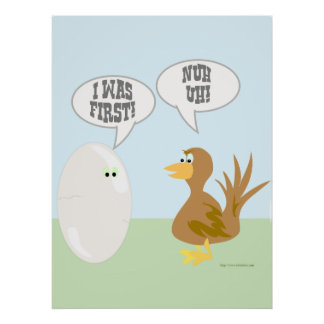 ¡Pollo contra el huevo el poster! Póster