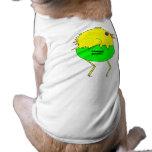 Pollo corriente camisetas de perrito