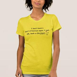 Pollo corto de la capacidad de concentración camisetas