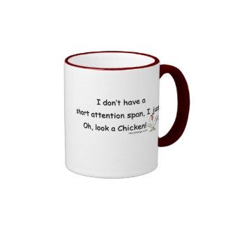 Pollo corto de la capacidad de concentración taza de café