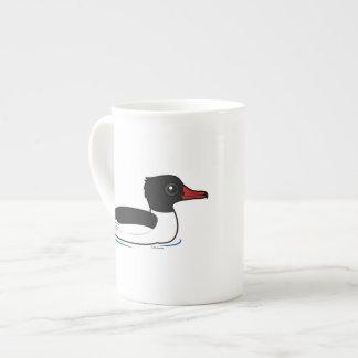 Pollo de agua común tazas de porcelana