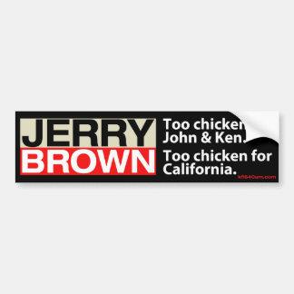 Pollo de Jerry Brown Pegatina De Parachoque