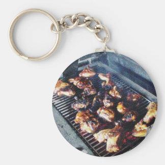 Pollo de la barbacoa llaveros