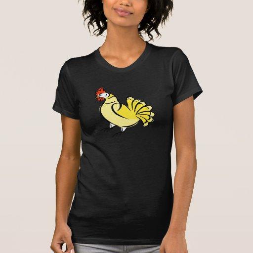 Pollo de la caza camisetas
