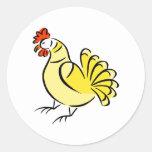 Pollo de la caza pegatina