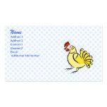 Pollo de la caza plantilla de tarjeta de visita