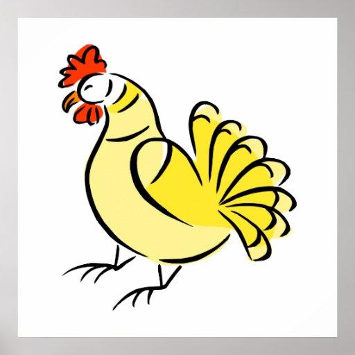 Pollo de la caza poster