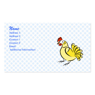 Pollo de la caza tarjetas de visita