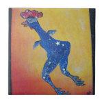 Pollo de la galaxia azulejo