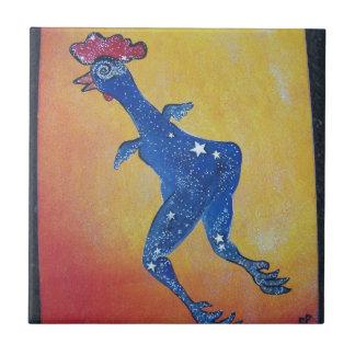 Pollo de la galaxia azulejo cuadrado pequeño