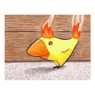 Pollo de la postal del fuego