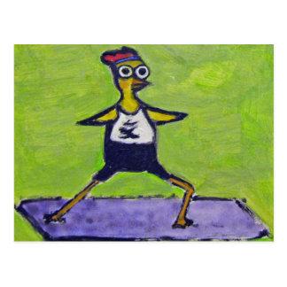 Pollo de la yogui postales