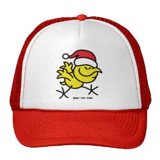 Pollo de las Felices Navidad Gorros Bordados