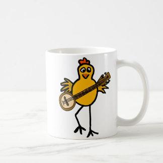 Pollo de los BN que juega la taza del banjo