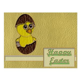 Pollo de Pascua de la Cuero-Mirada Tarjetas Postales