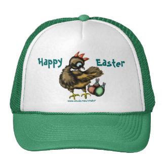 Pollo de Pascua y gorra divertidos de los conejito