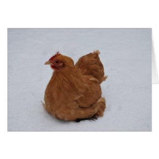 Pollo de Pekin en la nieve Tarjeta De Felicitación