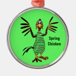 Pollo de primavera adornos de navidad