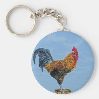 Pollo del animal del personalizar del cielo del ga llavero redondo tipo pin