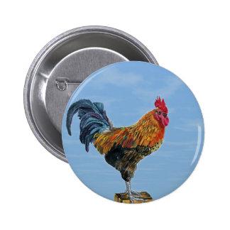 Pollo del animal del personalizar del cielo del ga pin redondo de 2 pulgadas
