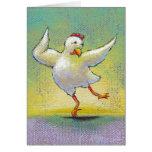 Pollo del baile - arte impresionante de la danza m felicitación