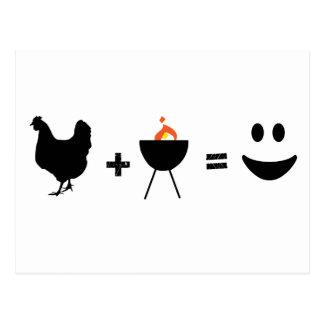 Pollo del Bbq feliz Postal