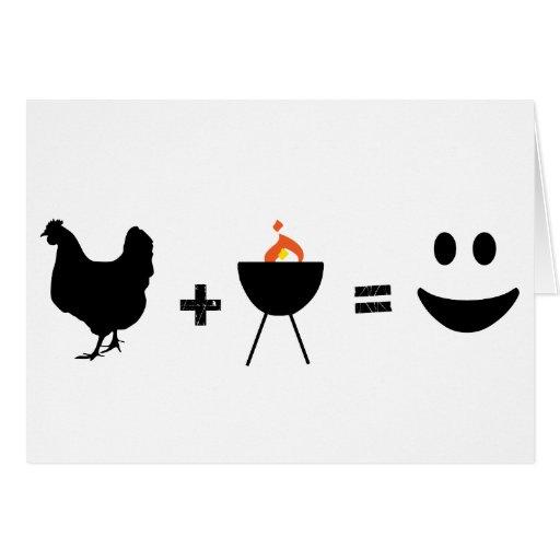 Pollo del Bbq feliz Tarjetón