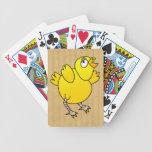 Pollo del bebé del vuelo baraja cartas de poker