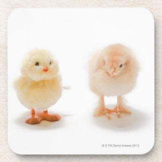 Pollo del bebé y pollo mecánico falso posavasos de bebidas