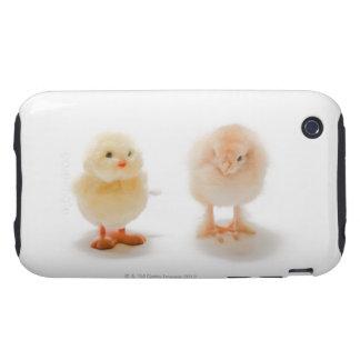 Pollo del bebé y pollo mecánico falso tough iPhone 3 funda